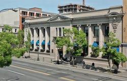 Banco da construção de Montreal, Victoria, BC, Canadá fotografia de stock