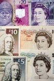 Banco da Inglaterra e dinheiro escocês Imagem de Stock Royalty Free