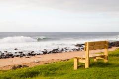 Banco da praia Imagens de Stock Royalty Free