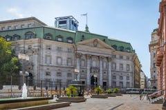 Banco de Λα Nacion έδρα της Αργεντινής, Αργεντινή National Bank που χτίζει - Μπουένος Άιρες, Αργεντινή Στοκ φωτογραφίες με δικαίωμα ελεύθερης χρήσης