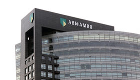 Banco de ABN AMRO en Amsterdam imagen de archivo libre de regalías
