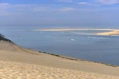 Banco de Arguin visto da duna de Pilat Foto de Stock Royalty Free