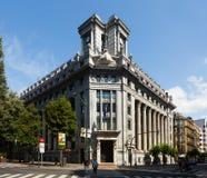 Banco de BBVA en Bilbao españa imagen de archivo