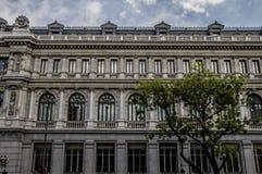 Banco de España, εικόνα της πόλης της Μαδρίτης, το characteristi του Στοκ φωτογραφία με δικαίωμα ελεύθερης χρήσης