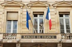 Banco de Francia Foto de archivo libre de regalías