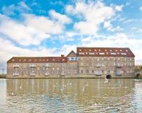 Banco de Huntingdon el río Great Ouse Fotos de archivo libres de regalías