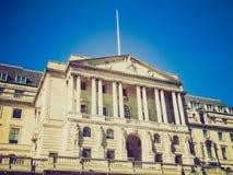 Banco de Inglaterra retro de la mirada Foto de archivo libre de regalías