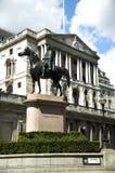 Banco de Inglaterra y Wellington Foto de archivo