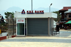 Banco de KBZ em Myanmar Imagem de Stock