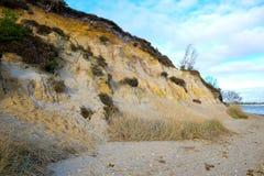 Banco de la arena en orilla del mar Fotografía de archivo