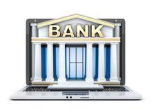 Banco de la estructura en ordenador portátil ilustración del vector
