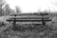 Banco de la victoria fotografía de archivo libre de regalías