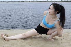 Banco de la yoga Imágenes de archivo libres de regalías