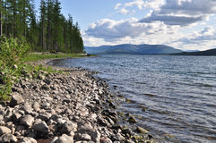 Banco de los lagos en la meseta de Putorana Imagenes de archivo