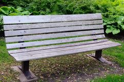 Banco de madeira em um parque Fotografia de Stock Royalty Free