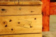 Banco de madeira feito a mão Fotografia de Stock