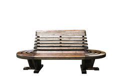 Banco de madeira isolado Fotos de Stock