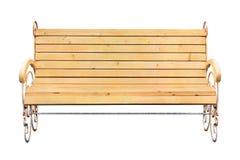 Banco de madeira isolado no branco Fotos de Stock Royalty Free