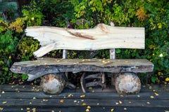 Banco de madeira velho Fotos de Stock Royalty Free