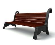 banco de madera 3d Imagen de archivo libre de regalías