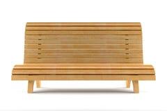 Banco de madera aislado en el fondo blanco Foto de archivo