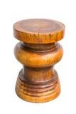 Banco de madera hecho por el tronco Fotografía de archivo libre de regalías
