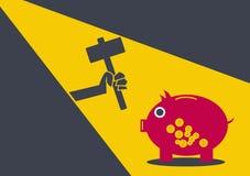 Banco de moeda do ladrão conceptual ilustração royalty free