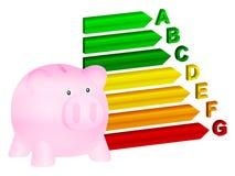 Banco de moeda do uso eficaz da energia Imagem de Stock