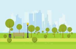 Banco de parque de madera ilustración del vector