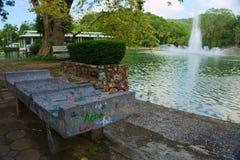 Banco de parque no outono Imagem de Stock Royalty Free
