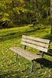 Banco de parque vacío Fotos de archivo