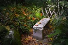 Banco de pedra Imagens de Stock Royalty Free