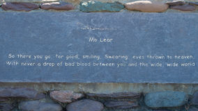 Banco de pedra ao longo da península do Dingle Foto de Stock Royalty Free
