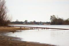 Banco de rio Foto de Stock Royalty Free