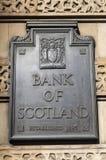 Banco de Scotland Foto de Stock Royalty Free
