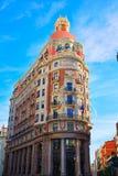 Banco de Valencia building in Pintor Sorolla street Royalty Free Stock Photo