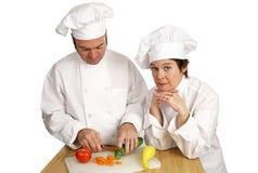 Banco del cuoco unico - istruttore severo Fotografia Stock