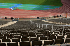Banco del estadio Fotografía de archivo libre de regalías