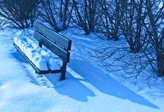 Banco del invierno Fotografía de archivo