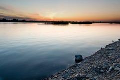 Banco del río Fotografía de archivo