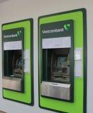 Banco del vietnamita del cajero automático de la atmósfera de Vietcombank Fotos de archivo libres de regalías