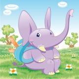 Banco dell'elefante del bambino Immagine Stock