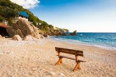 Banco della spiaggia Immagini Stock