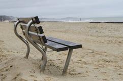 Banco della spiaggia Fotografia Stock