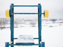 Banco di allenamento nell'inverno Fotografia Stock Libera da Diritti