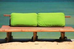 Banco di bambù della spiaggia Fotografia Stock Libera da Diritti