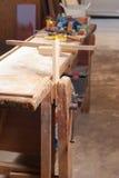 Banco di lavoro del carpentiere Fotografie Stock
