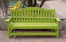 Banco di legno verde Fotografia Stock Libera da Diritti