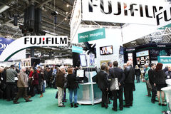 Banco di mostra di Fujifilm Fotografia Stock Libera da Diritti