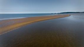 Banco di sabbia della baia di Swansea fotografie stock libere da diritti